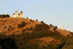 De heuvel van heilige in Mikulov Royalty-vrije Stock Afbeelding