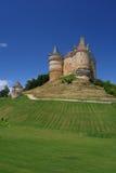 De heuvel van het kasteel in Dordogne Frankrijk Royalty-vrije Stock Afbeeldingen