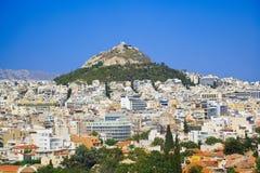 De heuvel van Lycabettus in Athene, Griekenland Royalty-vrije Stock Foto's