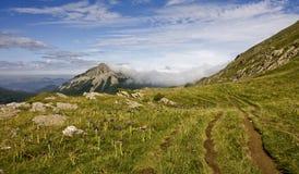 De heuvel van Nice in de Pyreneeën Royalty-vrije Stock Foto's