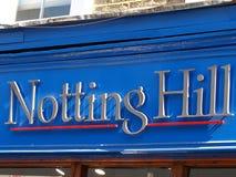 De heuvel van Notting Stock Foto's