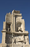 De heuvel van Philopappus in Athene, Griekenland Royalty-vrije Stock Foto