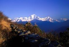 De Heuvel van Poon, Nepal Stock Afbeeldingen