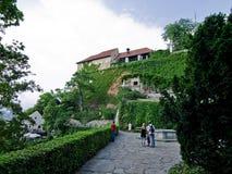 De heuvel van Schlossberg in Graz - royalty-vrije stock foto's