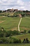 De heuvel van Toscanië Stock Afbeelding