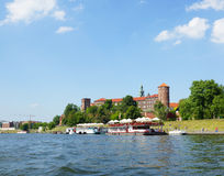 De Heuvel van Wawel in Krakau Stock Foto's