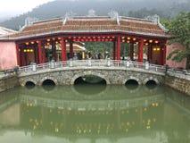 De Heuvelbrug van Na van Danangbedelaars Stock Afbeelding