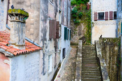 De heuvelige straat Stock Afbeelding