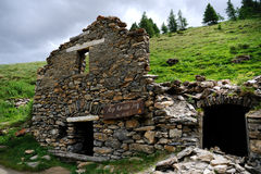De heuvelland van alpen Royalty-vrije Stock Afbeeldingen