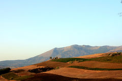 De heuvels & de onderstellenmening van het land stock fotografie