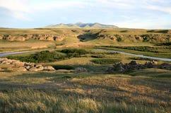 De Heuvels en Davis Coulee van Sweetgrass Stock Afbeelding