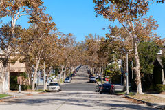 DE HEUVELS VAN BEVERLY, CA, DE V.S. - 4 OKTOBER, 2016: Rodeoaandrijving in Beverly Hills Los Angeles California in de V.S. stock afbeeldingen