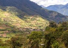 De heuvels van de Andes, midden van de dag Royalty-vrije Stock Afbeeldingen