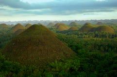De heuvels van de chocolade in de Filippijnen Stock Foto
