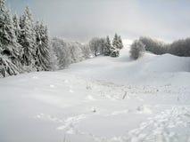De heuvels van de winter Royalty-vrije Stock Foto's