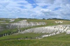 De heuvels van het de zomerlandschap Royalty-vrije Stock Afbeelding