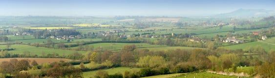 De heuvels van het platteland Stock Foto