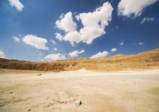 De Heuvels van het zand van Samaria, Israël Zonsondergang Royalty-vrije Stock Foto's