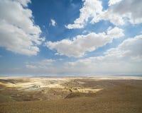 De Heuvels van het zand van Samaria, Israël Zonsondergang Stock Foto