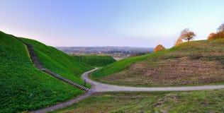 De heuvels van Kernave Royalty-vrije Stock Fotografie