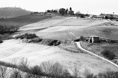 De Heuvels van Toscanië stock fotografie
