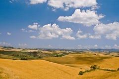 De heuvels van Toscanië Royalty-vrije Stock Foto's