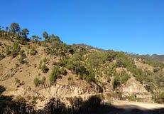 De heuvels van Uttarakhandindia royalty-vrije stock afbeeldingen