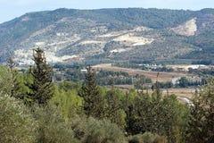 De heuvelsmening van de berg Royalty-vrije Stock Afbeeldingen