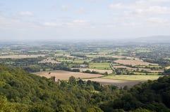 De heuvelsplatteland van Malvern Royalty-vrije Stock Foto's