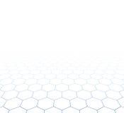 De hexagonale oppervlakte van het perspectiefnet royalty-vrije illustratie