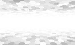 De hexagonale oppervlakte van het perspectiefnet vector illustratie