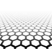 De hexagonale oppervlakte van het perspectiefnet stock illustratie