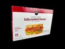 De Hickory van het Publixmerk rookte volledig Gekookt Bacon stock foto's