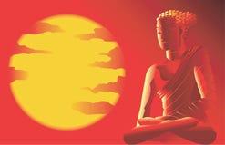De Hindoes-illustratie-vectorscène van Buda Royalty-vrije Stock Afbeeldingen