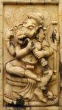 De Hindoese god van Ganesh die van Steen wordt gemaakt Stock Afbeeldingen