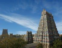 De Hindoese tempel van Meenakshi in Madurai, Tamil Nadu stock fotografie