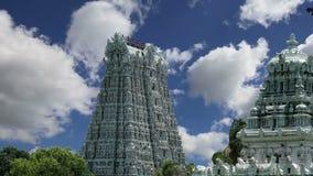 De Hindoese tempel van Meenakshi in Madurai, Tamil Nadu, Zuid-India stock footage