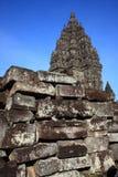 De Hindoese Tempel van Prambanan Stock Foto