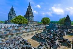 De Hindoese tempel van Prambanan Royalty-vrije Stock Fotografie