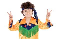 De hippie van het kind royalty-vrije stock afbeeldingen