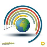 De Histogram van Infographic van de wereld, de Grafiek van de Grafiek Stock Foto