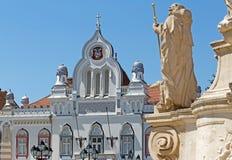 De historisch bouw en monument in Timisoara, Roemenië Stock Foto's