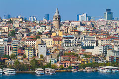 De historische architectuur van het Beyogludistrict Royalty-vrije Stock Fotografie