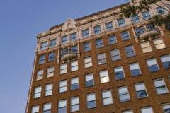 De historische baksteen en zandsteenbouw Royalty-vrije Stock Foto