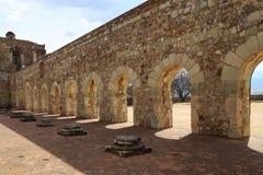 De historische Basiliek van Cuilapan, Oaxaca, Mexico stock foto's