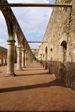 De historische Basiliek van Cuilapan, Oaxaca, Mexico stock fotografie