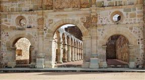 De historische Basiliek van Cuilapan, Oaxaca, Mexico stock afbeelding