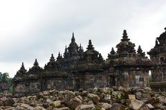 De historische boeddhistische tempel van Candi Plaosan Royalty-vrije Stock Foto