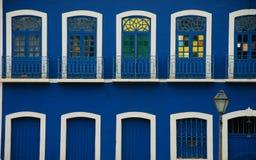 De historische bouw, detail Sao Luis Maranhao, Brazilië stock afbeeldingen