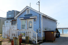 De historische Bouw in Galilee, Narragansett, RI stock foto